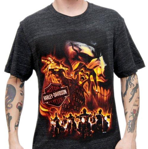 Harley-Davidson Mens Brothers United Jester / Joker Black Short Sleeve T-Shirt (X-Large)