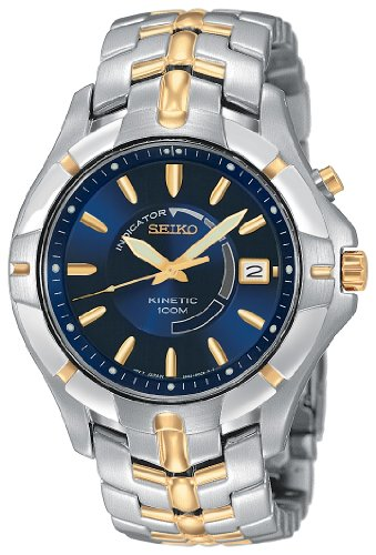 Men&#8217;s Seiko Kinetic Two Tone Watch