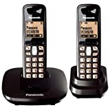 Panasonic KX-TG6412ET DECT Twin Digital Cordless Phone Set - Blackby Panasonic Phones
