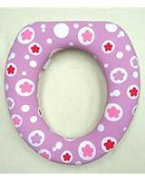 Just4baby Réducteur WC rembourré pour filles Rose/fleurs