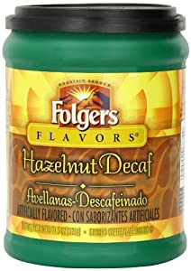 Folgers Hazelnut Decaf Coffee, 11.5 Ounce (Pack of 12)