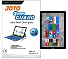 JOTO Screen Protector Film Guard for Microsoft Surface Pro 3 Tablet (12 inch, 3rd generation), Anti Glare, Anti Fingerprint (Matte Finish) with Lifetime Replacement Warranty (3 Pack)
