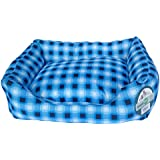 Iconic Pet Standard Square Bed, Large, Blue