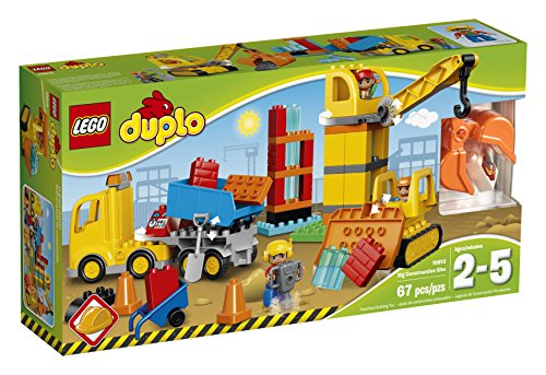 LEGO DUPLO Town 10813 Big Construction Site Building Kit (67 Piece)