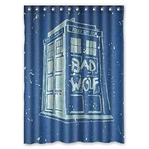 Doctor who bad wolf custom shower curtain 60 for Bathroom decor amazon