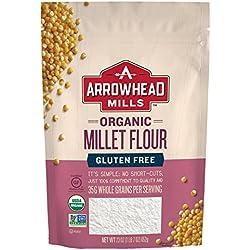Arrowhead Mills Organic Gluten Free Millet Flour, 23 Ounce (Pack of 6)