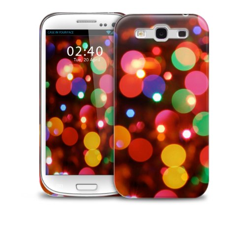 Colourful Coloured Traffic lights, Christmas blurred bulbs dc Ultra Slim Fit Plastic Protective Hard Back Phone Case Cover for Samsung Galaxy S3 GS3