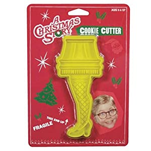 A Christmas Story Yellow Leg Lamp Plastic Cookie Cutter