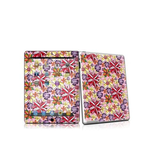 Tropical Flowers Design Protective Decal Skin Sticker for Apple iPad 2nd Gen Tablet E Reader