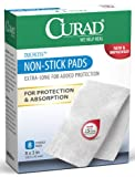 Curad Non-Stick Pads, 8 Inches X 3 Inches (Pack of 4)