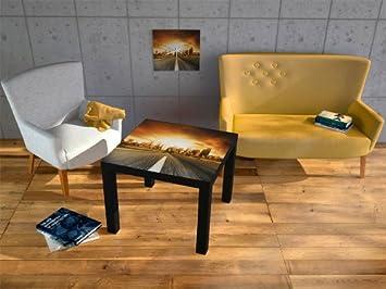 3 table basse pellicule de de protection 55x55x45 cm table table noire table basse. Black Bedroom Furniture Sets. Home Design Ideas
