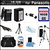 16GB Accessory Kit For Panasonic HC-V700, HC-V700M, HC-V500, HC-V500M, HC-V100, HC-V100M, HC-V10 Camcorder Includes 16GB High Speed SD Memory Card + Replacement (2000Mah) VW-VBK180 Battery + Ac/Dc Charger + Deluxe Case + 50