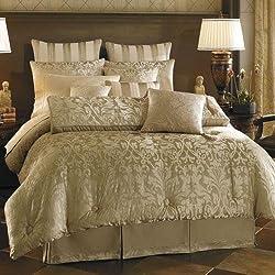 Croscill White Label Majestic Euro Pillow Sham, Taupe