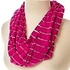 Pink Sheer Infinity Scarf