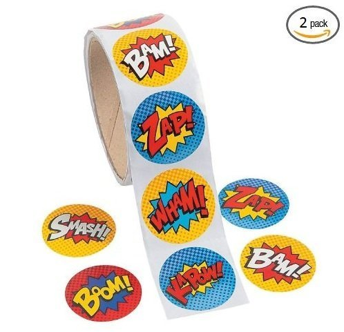 Superhero Sticker Roll - 200 Stickers