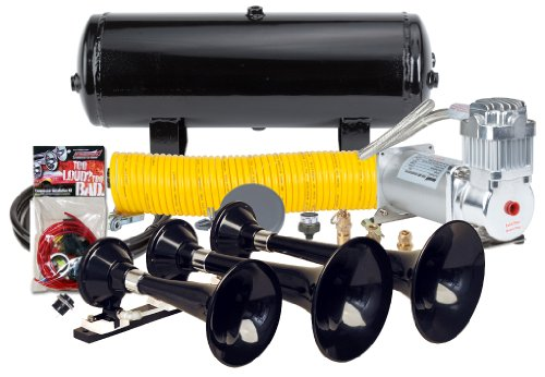 Kleinn Air Horn Model HK7 - Triple Train Horn Kit 150 PSI air compressor