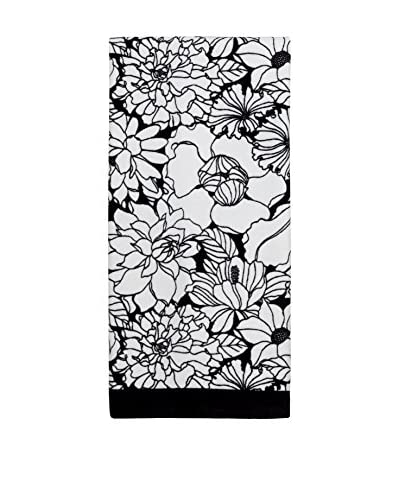 Creative Bath Floral Bath Towel, Black/White