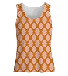 Snoogg Flora Pattern Design Womens Tunic Casual Beach Fitness Vests Tank Tops Sleeveless T shirts