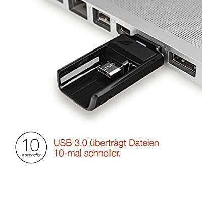 Leef Bridge USB 3.0 32GB Dual USB Flash Drive (Black) for Android Phones and Tablets, Mac, and Windows PC