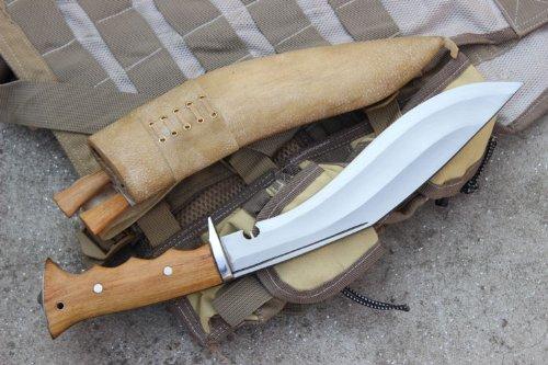 "Genuine Gurkha Hand Forged Kukri - 10"" Blade Authentic British Gurkha Iraqi Operation Gripper Blocker Handle Khukuri - By Ex Gurkha Khukuri House in Nepal"