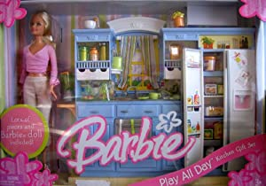 barbie play all day kitchen gift set w barbie doll reviews