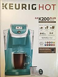 Keurig 2.0 K200 Plus Series Single Serve Plus Coffee Maker Brewer (Newest Model) Turquoise made by Keurig