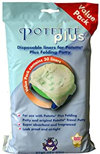 Skip Hop Stuff Pottette Plus - Compresas impermeables, absorbentes y perfumadas para orinal (30 unidades) por Bibs n Stuff en Bebe Hogar