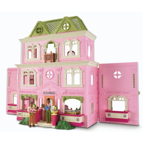 Toy / Game Fisher-Price Loving Family Grand Dollhouse (African-American Family) With Storage Of Accessories