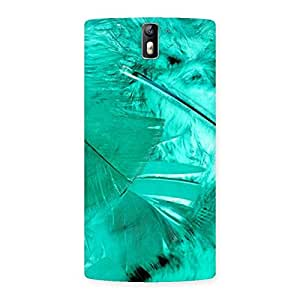 Special Feather Cyan Back Case Cover for One Plus One