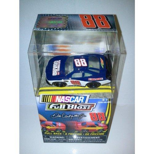 Nascar FULL BLAST Pull Back Car # Dale Earnhardt Jr Blue National Guard car by Spin Master - 1