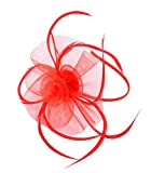 Fascinator Hat with Headband for Women Lady Red