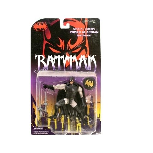 Kenner Year 1994 Legends of Batman 5 Inch Tall Action Figure - POWER GUARDIAN BATMAN with Long Sword, Short Sword, Shield and Chest Guard Plus Bonus Official Collector's Card - 1