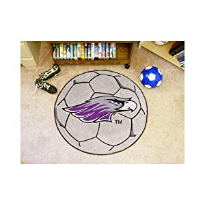 "Wisconsin Whitewater Warhawks NCAA 29"" Round Soccer Ball Area Rug Floor Mat"