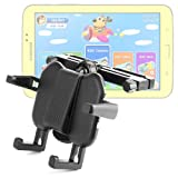 DURAGADGET Attachable Headrest Mount / Device Vice With Extendable Arms For Clementoni Clempad, Videojet KidsPad 3, Oregon Scientific Meep! X2 Tablet, Samsung Galaxy Tab 3 Kids & - Peppa Pig Tablet