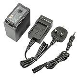 DSTE® VW-VBG6 Rechargeable Li-ion Battery + Charger DC61U for Panasonic NV-GS90, GS98, PV-GS90, GS320, GS500, SDR-H48, H50, H68, H80, H90, H258, VDR-D50, D58, D310, AG-AC7, AG-AC130A, AG-AC160A, AG-AF100, HDC-HMC40, HMC70, HMC80, HMC150, HMC153, HMR10, H