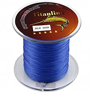 Titanline super high grade fiber pe briad braided fishing for Amazon fishing line