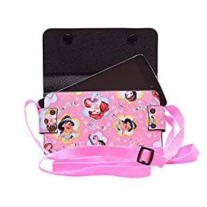 Colorkart Printed Mobile Pouch Handbag With Adjustable Strip For Asus Zenfone Go T500 Mobile Phone (Pink)