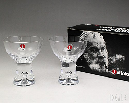 イッタラ(iittala) タピオ 950046 サケ(冷酒、日本酒)グラス 90cc ペアクリア [並行輸入品]