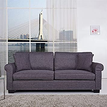 Gold Sparrow Pittsburgh Fabric Sofa in Dark Gray