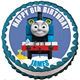 Personalised Thomas The Tank Engine Edible Birthday Icing Cake Topper 7.5