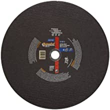 Norton Gemini Long Life Large Diameter Reinforced Abrasive Cut-off Wheel, Type 01 Flat, Aluminum Oxide