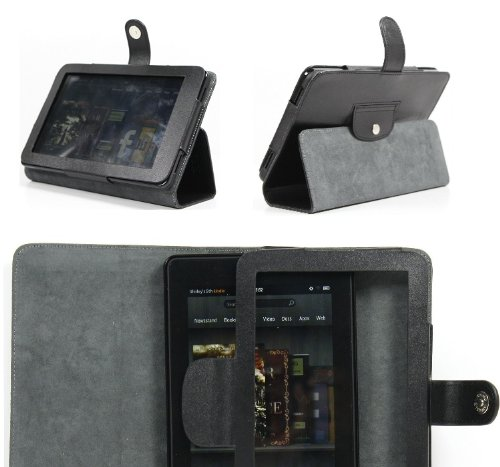amazon-kindle-fire-7-cover-kf01-bk-genuine-black-leather-executive-case-with-flip-side-to-enable-hor