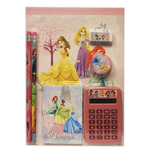 Disney Girls Princess 7pc Calculator Set
