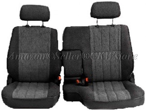 A57 Toyota Pickup 60/40 Split Bench Charcoal Seat Covers, Triple Stitched with 8mm Extra Thick Padding, Adjustable Headrests, Armrest Access, Seat Belt Cutout, Custom Made for Exact Fit 1990 - 1995 (40 60 Seat Covers For Trucks compare prices)