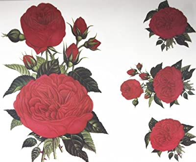 GGSELL GGSELL fashion latest design extra large tattoo for back red roses temporary tattoo sticker
