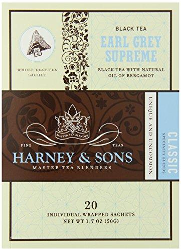 Harney And Sons Earl Grey Supreme Tea, 20 Wrapped Sachets