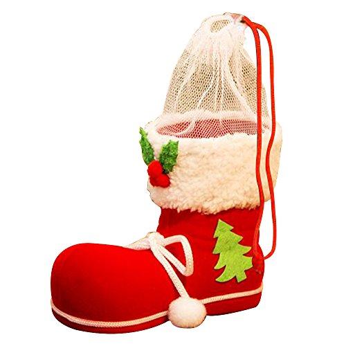 Eizur Natale Caramelle Stivali Babbo Stivali Regalo Borsa Albero di Natale Decorazione Ornamenti Xmas Decor Creativo Candy Regali Calzini per Bambini Taglia