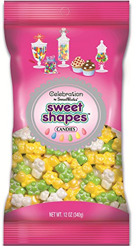 Sweetworks Celebrations Candy Sweet Shapes Bag, 12 oz, Shimmer Bear Mix