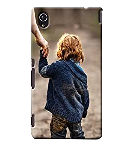 Blue Throat Little Boy Hard Plastic Printed Back Cover/Case For Sony Xperia M4