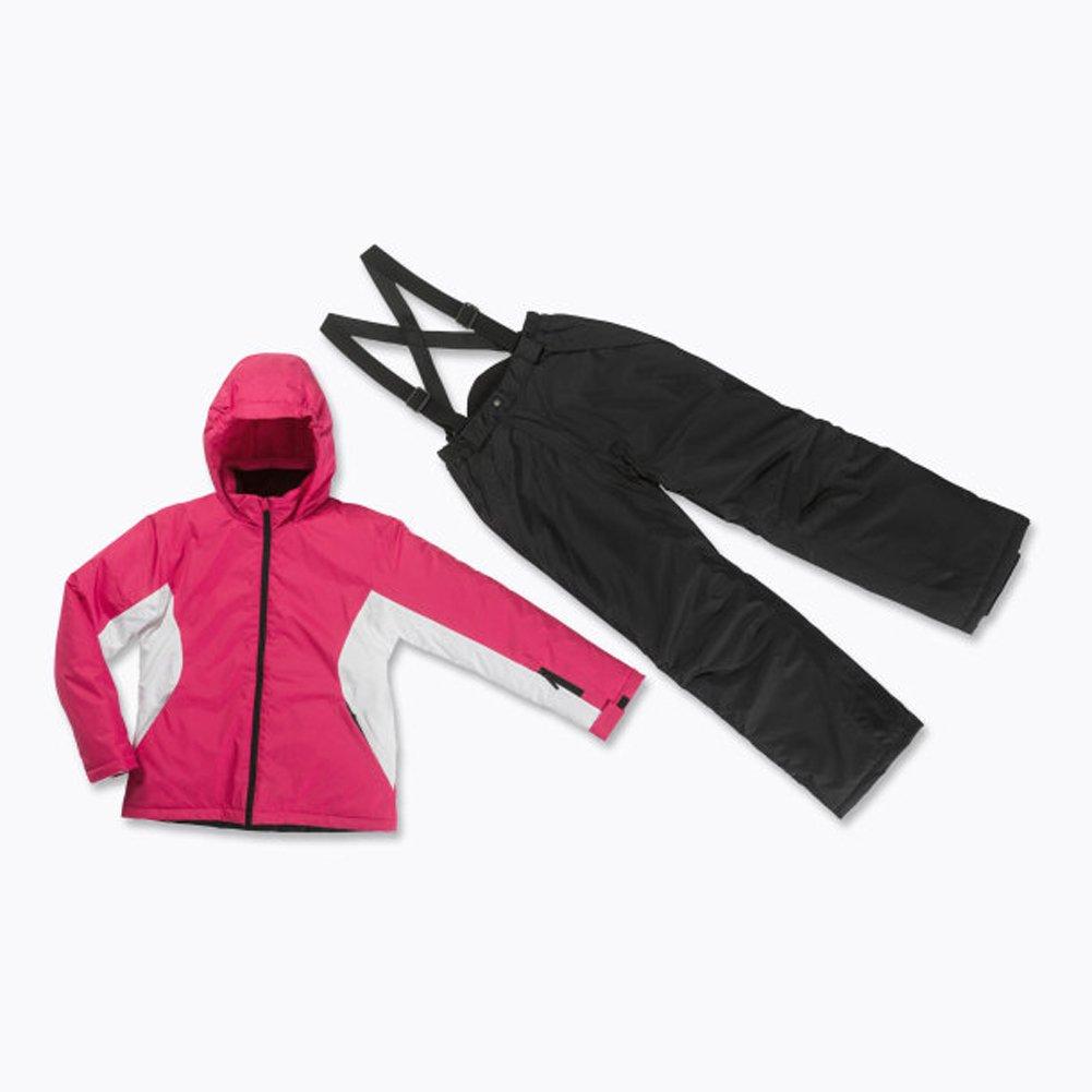 Skianzug 2tlg. Funktioneller Skianzug Für Mädchen Gr. 140 Farbe. himbeer/schwarz/weiß Schneeanzug Thinsulate Skijacke jetzt bestellen